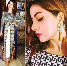 Classy looks of Sohai Ali Abro for promotion of her film Wrong No. 6