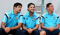 Tan juiciosas las fieras del Chelsea FC: Diego Costa, Cesc Fabregas y Fernando Torres.