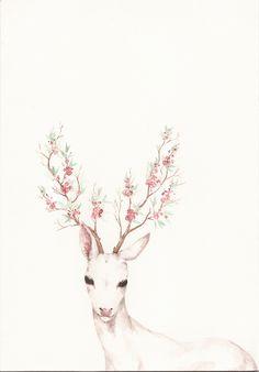 flower branch antlers <3