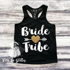 Bridesmaid Shirt Bride Tribe Bridesmaid Tank Bachelorette Party Shirts... (358.560 IDR) ❤ liked on Polyvore featuring tops, pink, women's clothing, bridal party shirts, bride shirt, bridal shirts, fitted shirt and glitter shirt