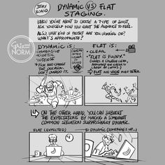 Tuesday Tips — Dynamic VS Flat staging A huge component of storyboarding is to use the camera position and angle to tell the story you want to tell (or that you're paid to tell…). No angle or position is bad by itself. But every camera choice you. Storyboard Drawing, Animation Storyboard, Comic Drawing, Animation Reference, Art Reference Poses, Drawing Tips, Drawing Reference, How To Storyboard, Comic Tutorial