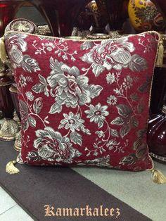 Maroon Colour Velvet Cushion Cover