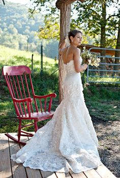 Watters Torrean - another photo of my wedding gown. Frustrating as no photo seems to show the beautiful detail of floral appliques & beading. This gown is exquisite in ivory as I chose, it simply needs to be shown up close & not in white.