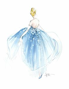 Illustration inspired by Cinderella for Lauren Conrad, by Katie Rodgers/Paper Fashion