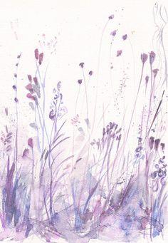 SPRING SALE Art Painting Print my Original watercolor by mallalu