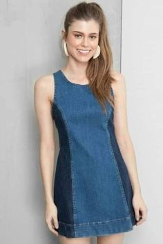 Dressto Vestido seventy two washes Fashion Sewing, Denim Fashion, Fashion Outfits, Sewing Clothes, Diy Clothes, Clothes For Women, Pullover Upcycling, Nice Dresses, Casual Dresses