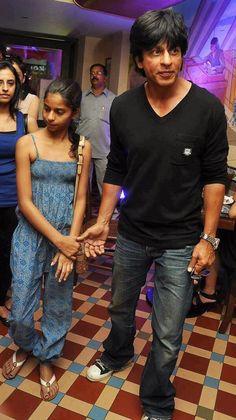 Shah Rukh and Suhana Khan