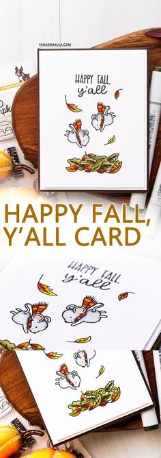 This time I am sharing a Fall card created using Neat & Tangled exclusive collaboration Art Cards, Paper Cards, Card Tags, I Card, Neat And Tangled, Stamp Card, Autumn Cards, Happy Fall Y'all, Thanksgiving Cards