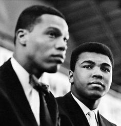 A young Louis Farrakhan and Muhammad Ali. by Roger Malloch 1966 Louis Farrakhan, Dodgers, Muhammad Ali Boxing, Float Like A Butterfly, The Jacksons, Thing 1, Black Pride, Culture, Before Us