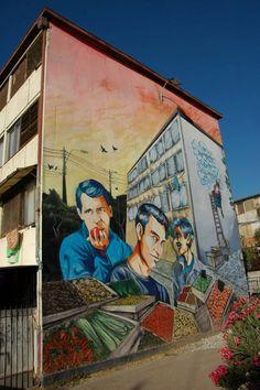 Street Art from Santiago de Chile - Street Art Utopia Street Art Utopia, Murals Street Art, Street Art Graffiti, Graffiti Murals, Best Street Art, Amazing Street Art, Amazing Art, Beautiful Streets, Sand Art