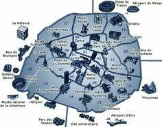 Carte touristique des mus es lieux touristiques sites for Lieux touristiques paris