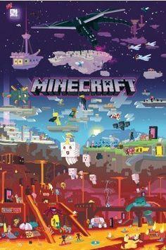Minecraft World Beyond Maxi Poster