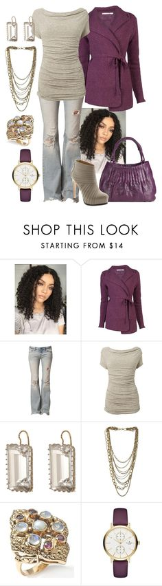 """Fall Tan/Gold/Purple"" by manda3482 ❤ liked on Polyvore featuring Cotélac, Free People, Phase Eight, Nancy Gonzalez, Pour La Victoire, Renee Lewis, Miss Selfridge and Kate Spade"