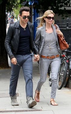 The couple were firmly part of the Notting Hill set, which included friends Sadie Frost and Jude Law