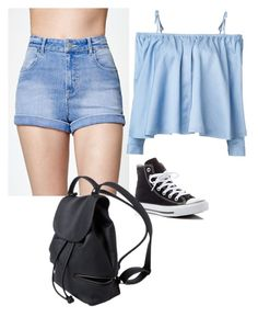 """""""Untitled #818"""" by fashionsparkles11 on Polyvore featuring Kendall + Kylie, Sandy Liang and Converse"""