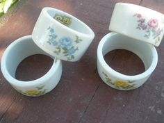 Beautiful Shafford vintage napkin rings by Alittledistressedout, $5.00