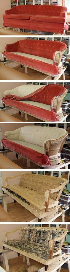 Sofa strip-tease!