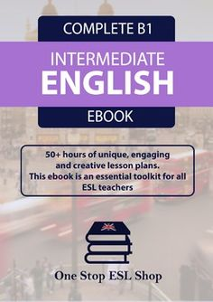 This is the One Stop ESL Shop B1 Course Book for Intermediate ESL learners. There are a total of 44 units within this course book, providing over 50-60 hours of unique, creative and engaging lesson plans. This course includes 10 audio files for listening exercises.