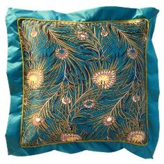 peacock pillow from Target... no longer in stores, but I'll find it...