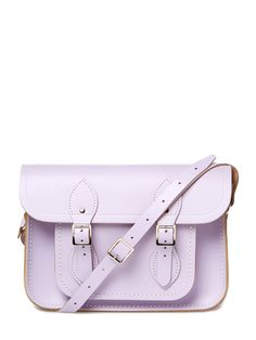 """Leather 11"""" Satchel in Lilac by The Cambridge Satchel Company"""