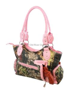 Mossy Oak Pink Camouflage Flower Purse Camo Bling Bag Concealed Carry CCW 76