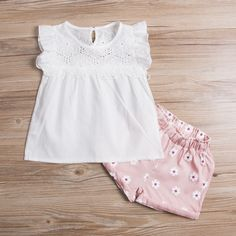 Summer Kids Baby Girls Clothes summer White Tunic Tops and Shorts Children girl sets kids girl Outfits -in Clothing Sets from Mother & Kids on Aliexpress.com   Alibaba Group