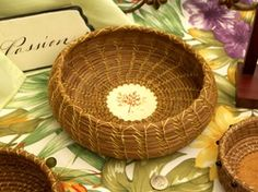 A pretty good tutorial on making pine needle baskets - (with videos! win!)