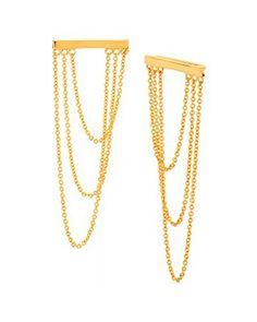 Gorjana Cameron Dangling Chain Gold Plated Ear Climbers Gorjana http://www.amazon.com/dp/B017XXRN8S/ref=cm_sw_r_pi_dp_dJhxwb1ANKAWF