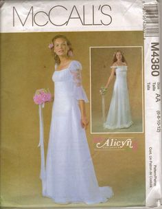 1960s Wedding Dress Pattern Mod Bridal By Allthepreciousthings 24 00 Sew Fab 2 Pinterest Patterns Dresses And