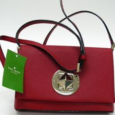 Red Kate Spade Crossbody NWT Kate Spade Cross Body! Comes in its original bag with tags and care card. It is so cute but I already have one just like it! Authentic and so pretty! Good for any occasion. kate spade Bags Crossbody Bags