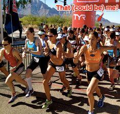 Compete in a timed event - 5K, 10K, Half-Marathon, Marathon.