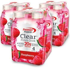 Premier Protein Clear Protein Drink Raspberry fl oz Bottle Co. Protein Fruit, Protein Diets, Protein Pack, Protein Shakes, Whey Protein, Fruit Drinks, Fruit Smoothies, Beverages, Meals
