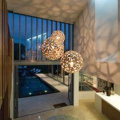 Beautiful lighting by David Trubridge