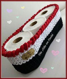 Lindo d + ❤❤ Crochet Bowl, Crochet Basket Pattern, Crochet Art, Love Crochet, Crochet Patterns, Crochet Storage, Crochet Kitchen, Crochet Handbags, Knitted Bags