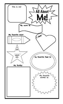 Pam Hyer: All About Me Poster for the beginning of every
