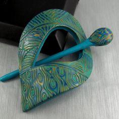 peacock shawl pin by carolyn good