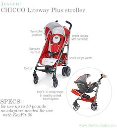 The Chicco Liteway Plus is a great umbrella stroller on its own but it also allows you to snap your KeyFit 30 in creating a travel system!