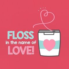 Dentaltown – Floss in the name of love! Show your smile some love by remembering… - Cuidado Bucal Humor Dental, Dental Quotes, Dental Hygiene, Dental World, Dental Life, Dental Fun Facts, Dental Images, Holistic Dentist, Emergency Dentist