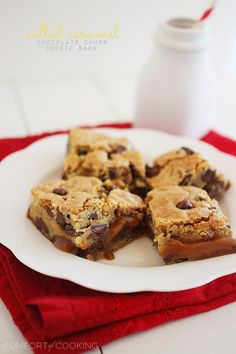 The Comfort of Cooking » Salted Caramel Chocolate Chunk Cookie Bars