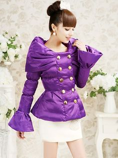 Morpheus Boutique  - Purple Double Breasted Boat Neck Designer Lady Flare Jacket, $129.99 (http://www.morpheusboutique.com/purple-double-breasted-boat-neck-designer-lady-flare-jacket/)