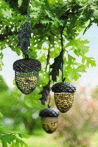 Woodland Party? Acorn Bird Feeder. $17  http://www.veseys.com/ca/en/store/tools/birdfeeders/acornbirdfeeder?link=popular-product