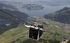 Open-air cable car