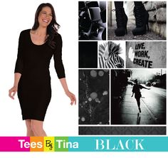 """Black.  sleek and slimming.  Every woman needs a """"little black dress"""" and ours are the best!"""