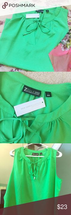 Beautiful Green Sleeveless Top Brand new with tags! Beautiful green color. Flowy style New York & Company Tops Blouses