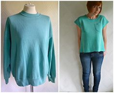 Sweatshirt Refashion - Before and After