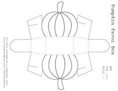 free pumpkin shaped favour box