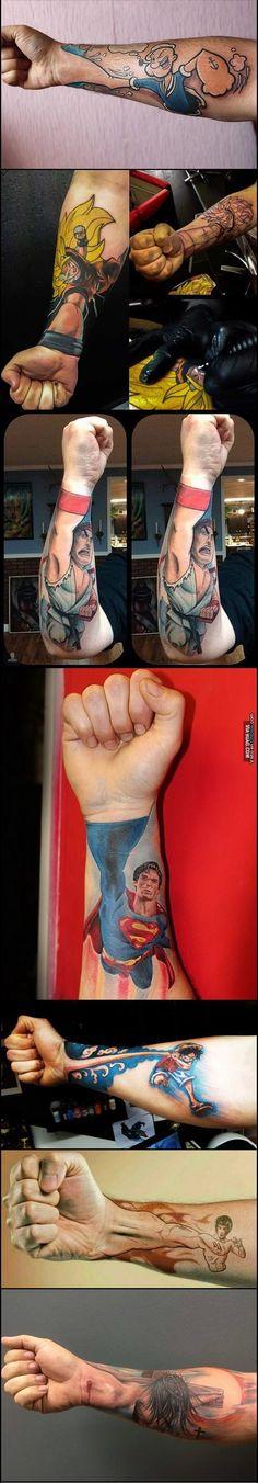 Y en nuestra sección de tatuajes 3D