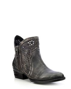 Bring trendy fashion to your look by wearing these Circle G ankle boots! Handcrafted from genuine leather with distressing for that desirable worn appearance, these round-toe boots showcase stunning l