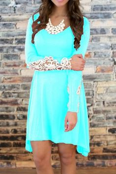 charming-lace-paneled-mini-dress