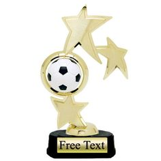 Triple Star Spin Soccer Trophy   | K2 Trophies and Awards